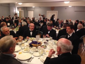 Brothers from Celestial Lodge enjoying Fraternalism and a wonderful dinner at the dinner for our very own Thomas A. Rorrie, Senior Grand Warden.